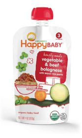Happy - Baby S3 Beef, Veg Bolognese & Brown Rice - 113g