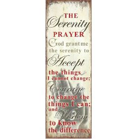 Pamper Hamper Serenity Prayer Metal Plaque