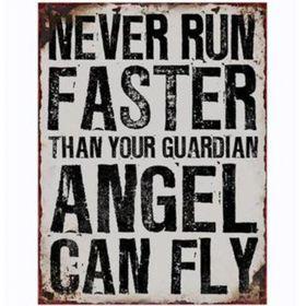 Pamper Hamper - Angel Can Fly Metal Plaque