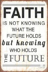 Pamper Hamper - Faith Holds Future Metal Plaque