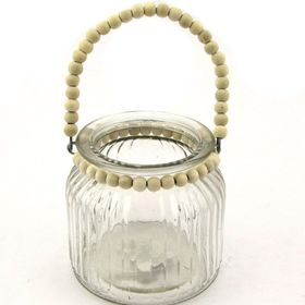 Pamper Hamper - Glass Jar With Beaded Handle