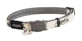 Rogz Glow Cat Reflective Glow-In-The-Dark Safeloc Breakaway Collar - Black Jumping Cat Design