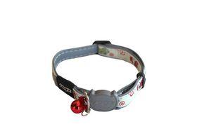 Rogz Glow Cat Reflective Glow-In-The-Dark Safeloc Breakaway Collar - Gecko Design