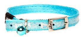 Rogz - Sparkle Cat Pin Buckle Collar - Turquoise