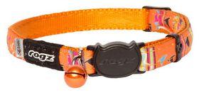 Rogz Neo Cat Safeloc Breakaway Collar - Orange Candy Stripes Design