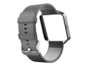 Fitbit Blaze Accessory Band Leather Mist Grey - Large