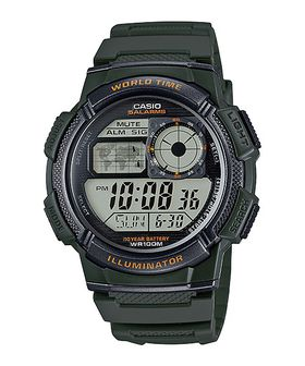 Casio Mens AE-1000W-3AVDF World Time Sports Digital Watch