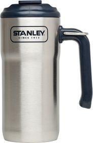 Stanley - Adventure 473ml Vacuum Insulated Travel Mug - Brushed Stainless Steel