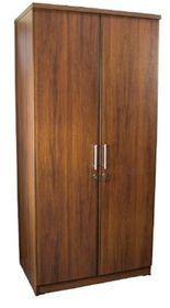 Wildberry - 2 Door Hanging and Shelves Wardrobe - Cherry