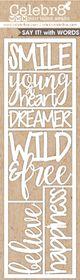 Celebr8 Matt Board Lanki - Boho Words (Co-ordinates with Boho Dreams)