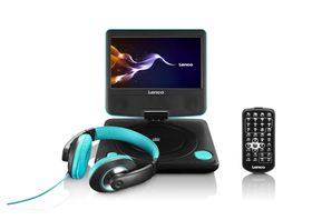 "Lenco 7"" Portable DVD Player with Headphone"