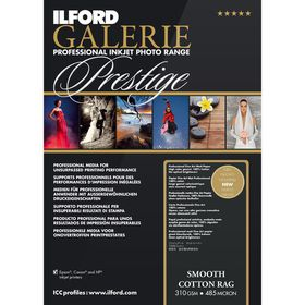 Ilford Prestige Smooth Cotton Rag 19 A2 Photo Paper