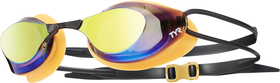 TYR Stealth Metallized Racing Goggles - Gold/Orange