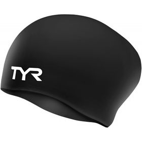 TYR Wrinkle Free Silicone Swimming Cap - Black