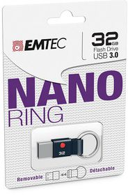 Emtec T103 USB 3.0 Nano Ring Flash Drive - 32GB