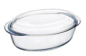 Pyrex - Essentials Glass Oval Casseroles Sticker Version with Lid - 3 Litre + 1 Litre
