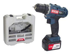 Ryobi - 18V LI-Ion Cordless Driver Drill Kit