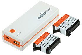 Jupio Power Vault Action 4 for GoPro Hero4 (2 batteries included)