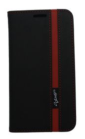 Scoop Executive Folio For Samsung S7 Edge - Black & Red