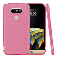 Flexible Anti-Shock Crystal Silicone Protective TPU Gel Skin Cover for LG G5 - Pink