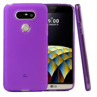 Flexible Anti-Shock Crystal Silicone Protective TPU Gel Skin Cover for LG G5 - Purple