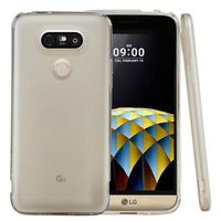 Flexible Anti-Shock Crystal Silicone Protective TPU Gel Skin Cover for LG G5 - White