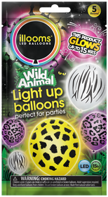 IIlooms Light Up Balloons - Faces and Wild Animals