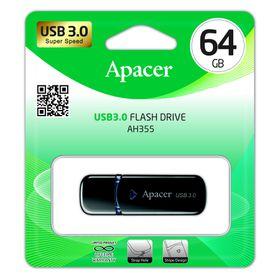 Apacer AH355 64GB USB3.0 Flash Drive - Black