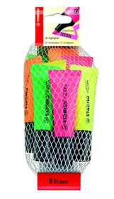 Stabilo Neon Highlighters 8 Pack (2 Each Yellow, Green, Orange, Pink)