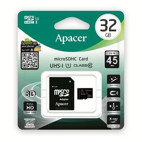 Apacer 32GB MicroSDHC UHS-I Card with Adaptor - Class 10
