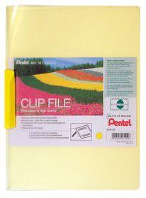 Pentel Clip File - Yellow