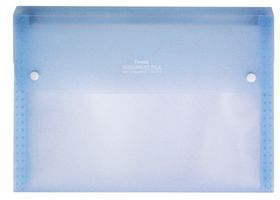 Pentel A4 13 Pockets Document File - Transparent Blue