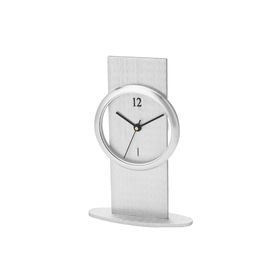 Eco Brushed Aluminium Desk Clock