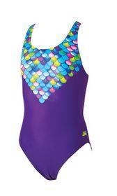 Girls Zoggs Mermaids Rowleeback Swimming Costume