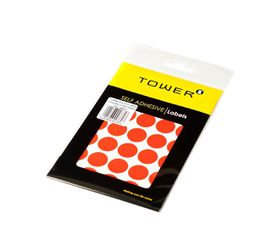 Tower C19 Colour Code Labels (Sheets) - Fluorescent Red