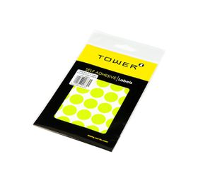 Tower C19 Colour Code Labels (Sheets) - Fluorescent Lime