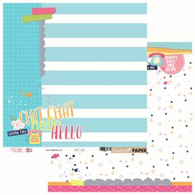 Celebr8 Let's Chat Double Sided Paper - Happy Days (10 Sheets)