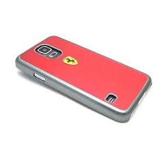 Ferrari for Samsung Galaxy S5 Metal Painting Hard Case - Red