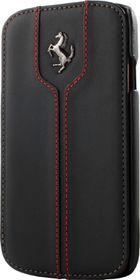 Ferrari for Samsung Galaxy S4 Monte Carlo Leather Flip case - Black