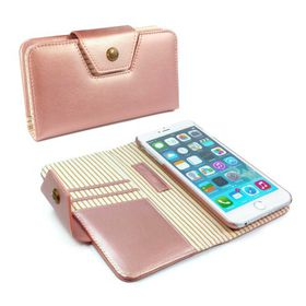 Tuff-Luv Alston Craig Ladies Magnetic Case for the the Apple iPhone 6/6S Plus - Rose Gold Stripe