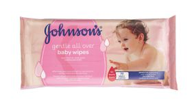 Johnson and Johnson - Gentle All Over Scented Wipes - 72's