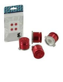 Zedlabz - Metal Bullet Buttons X4 - Red (PS4)