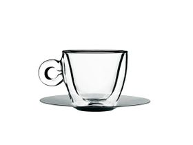 Luigi Bormioli - 165ml Thermic Cappuccino Cup With Saucer - 2 Pack