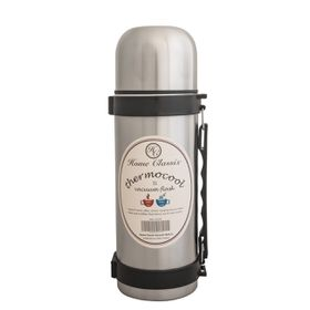 Home Classix - Stainless Steel Vacuum Flask With Handle and Strap - 1 Litre