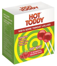 Hot Toddy Kid's Sore Throat Lollies