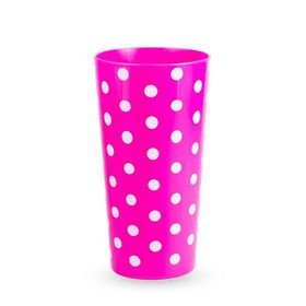 Lumoss - Lotus 600ml Polka Dot Printed Tumbler - Magenta Blue - Set Of 4