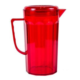 Lumoss - Plastic Jug With Lid - Red