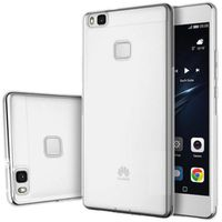 Huawei P9 Compatible Transparent Frost TPU Anti Slip Protective Cover Case - White