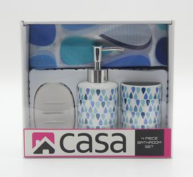Casa - PEVA & Ceramic Gift Set - Blue Drops