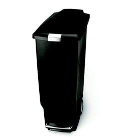 Simple Human - 40 Litre Slim Plastic - Black